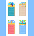vacation collection of posters vector image vector image