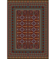 Vintage carpet decorated with geometric designs vector image