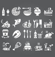white set of flat icons and elements about vector image vector image