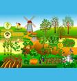 windmill farm vector image