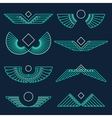 Wings template linear style vector image vector image