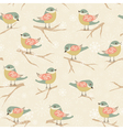 Winter background with birds vector image