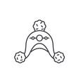 woolen hat line icon concept woolen hat vector image vector image