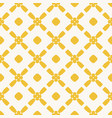 yellow seamless floral rhombuses art mesh pattern vector image