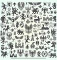 big heraldry collection vector image