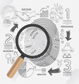 Business Fingerprint doodles line drawing success vector image