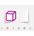 realistic design element cube vector image