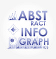 abstract infographics sketches icons vector image vector image