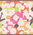 abstract print fabric geometric shapes vector image vector image