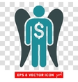 Angel Investor Icon vector image vector image