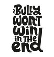 anti bullying lettering vector image vector image