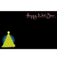 Background with Christmas tree of soccer balls vector image vector image