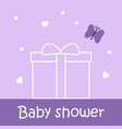 bashower card with present and butterfly vector image vector image