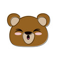 bear cute cartoon vector image