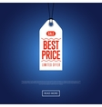 Best price discount sale sticker vector image vector image
