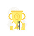 big gold trophy business vector image