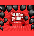 black friday sale background with shiny balloons vector image vector image