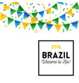 brazil welcomes you symbols vector image