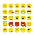 cartoon color emoticons sign icon set vector image