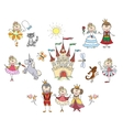 Children drawings for little girl vector image