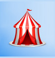 circus tent on blue vector image vector image