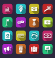collection simple flat icons of business and vector image vector image