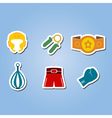 color set with boxing icons vector image vector image