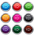 cursor to right set 9 collection vector image vector image