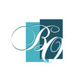 curvy luxury b initial letter b logo graphic vector image vector image