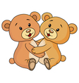 Cute bear embrace each other vector image vector image
