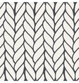 Decorative knitting braids seamless pattern vector image