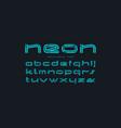 decorative striped sans serif font vector image