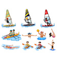 Different kinds of water sports vector image
