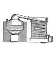 Distilling apparatus vintage vector image