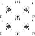 easel with picture icon in black style isolated on vector image vector image