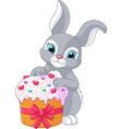 Easter Rabbit and Cake vector image vector image