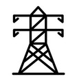 electric tower icon outline style vector image