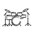 figure drums musical instrument to play music vector image vector image