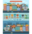 Flat City Elements Infographics vector image vector image