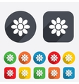 Flower sign icon Blossom symbol vector image