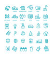 garbage line icons set garbage icons set vector image