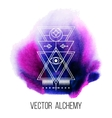 geometric alchemy symbol vector image vector image