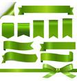 Green Ribbons Set vector image vector image