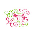 happy womans day text vector image vector image