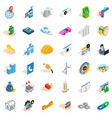 helmet icons set isometric style vector image vector image