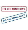 Ho Chi Minh City Rubber Stamps vector image vector image