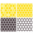 Honeycomb seamless pattern set vector image