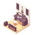 isometric home music recording studio vector image