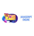 javascript concept banner header vector image