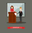 lawyer in flat style vector image vector image